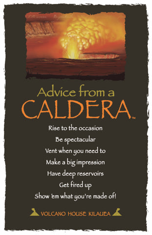 Advice from a Caldera Frameable Art Postcard