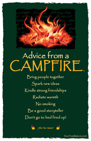 Advice from a Campfire Frameable Art Postcard