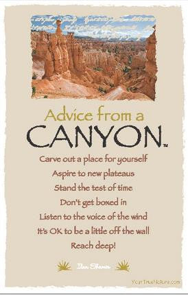 Advice from a Canyon - Bryce Canyon National Park - Frameable Art Postcard