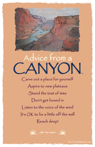 Advice from a Canyon Frameable Art Card