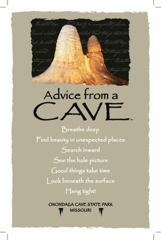 Advice from a Cave- Onondaga Cave State Park- Frameable Art Postcard