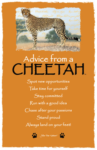 Advice from a Cheetah Frameable Art Postcard