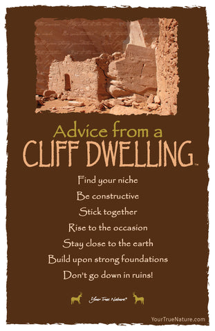 Advice from a Cliff Dwelling Frameable Art Postcard