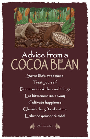 Advice from a Cocoa Bean Frameable Art Postcard