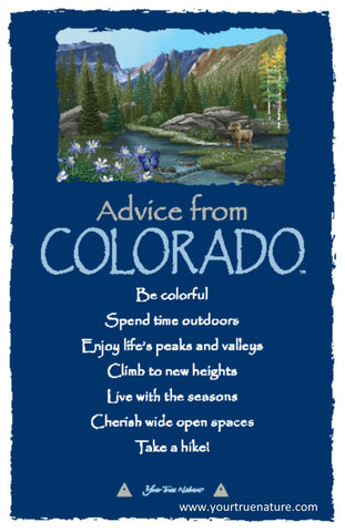 Advice from Colorado Frameable Art Postcard