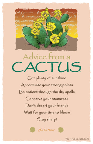 Advice from a Cactus Frameable Art Card