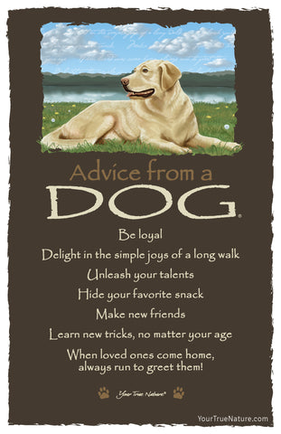 Advice from a Dog Frameable Art Card