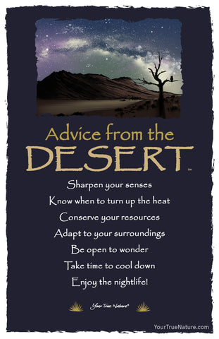 Advice from the Desert Frameable Art Card