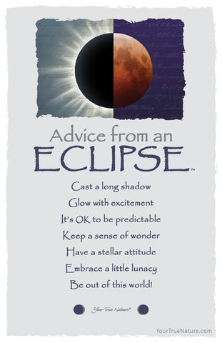 Advice from an Eclipse Frameable Art Postcard