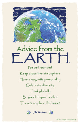 Advice from the Earth Frameable Art Postcard