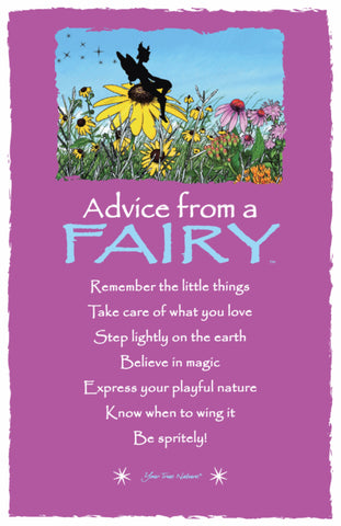 Advice from a Fairy Frameable Art Card