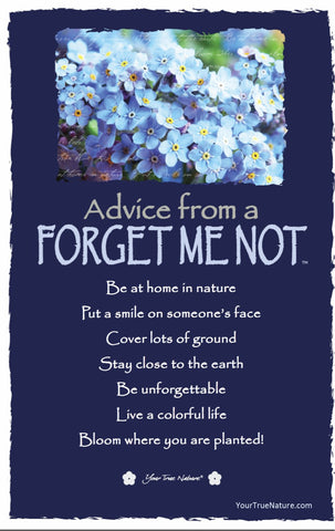 Advice from a Forget Me Not Frameable Art Card