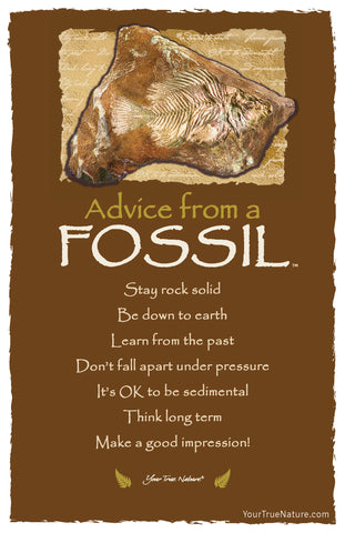 Advice from a Fossil Frameable Art Card