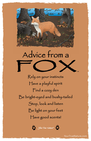 Advice from a Fox Frameable Art Card