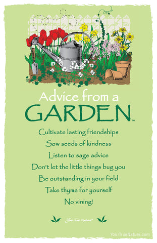 Advice from a Garden Frameable Art Postcard