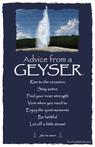 Advice from a Geyser Frameable Art Postcard