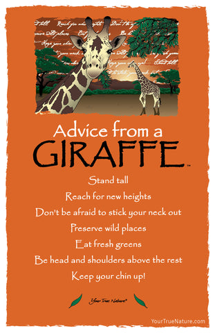 Advice from a Giraffe Frameable Art Postcard