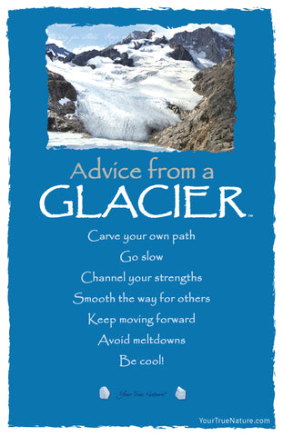 Advice from a Glacier Frameable Art Card