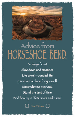 Advice from Horseshoe Bend Frameable Art Card