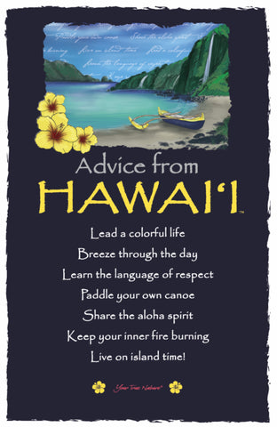Advice from Hawai'i Frameable Art Postcard