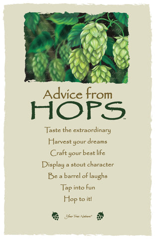 Advice from Hops Frameable Art Card