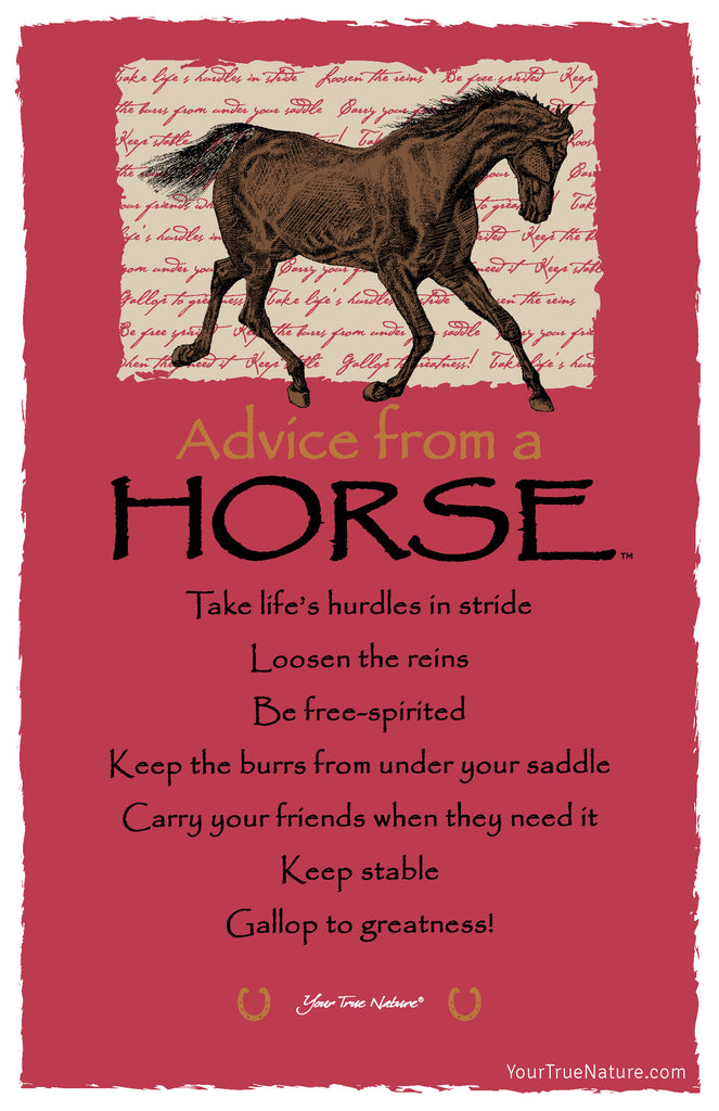 Advice From A Horse Frameable Art Postcard Your True