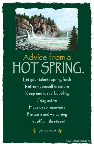 Advice from a Hot Spring Frameable Art Postcard