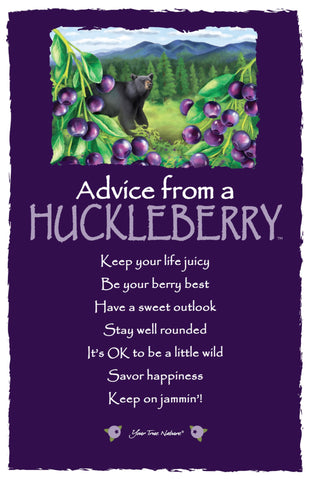 Advice from a Huckleberry Frameable Art Card