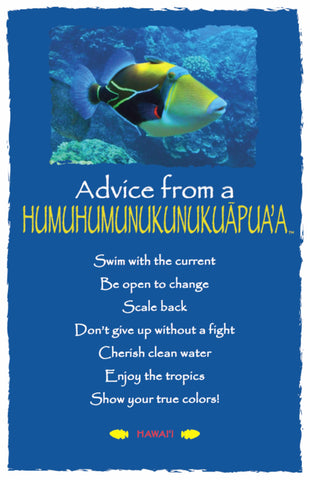Advice from a Humuhumunukunukuapua'a- Hawai'i- Frameable Art Card