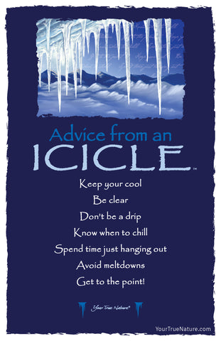 Advice from an Icicle Frameable Art Postcard