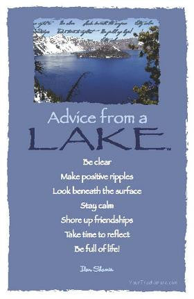 Advice from a Lake - Crater Lake National Park - Frameable Art Postcard