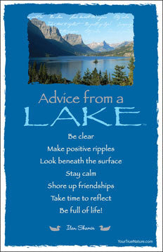 Advice from a Lake - Glacier National Park - Frameable Art Card