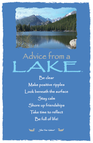Advice from a Lake - Rocky Mountain National Park - Frameable Art Card