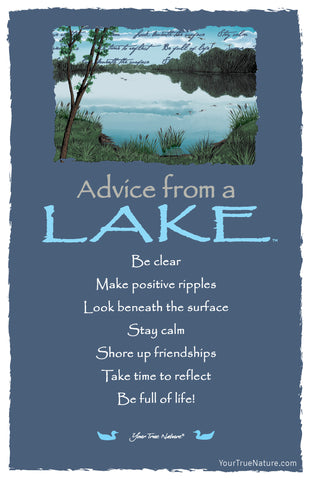 Advice from a Lake Frameable Art Card