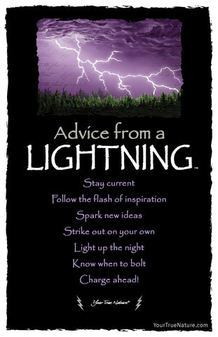 Advice from Lightning Frameable Art Card