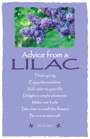 Advice from a Lilac Frameable Art Card