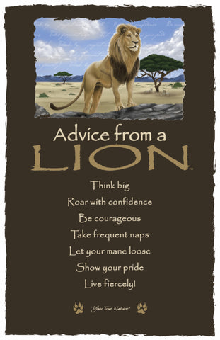 Advice from a Lion Frameable Art Card
