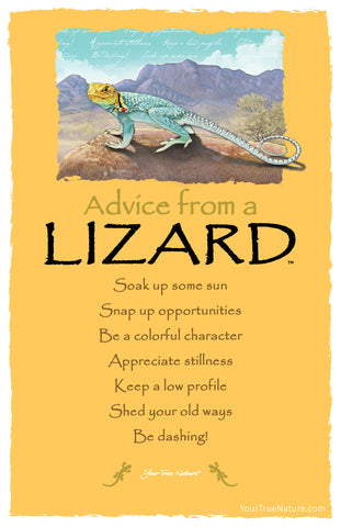 Advice from a Lizard Frameable Art Postcard