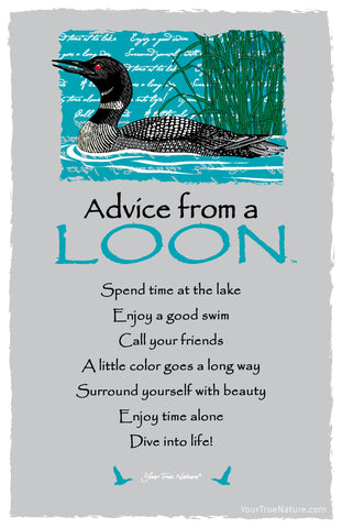 Advice from a Loon Frameable Art Card