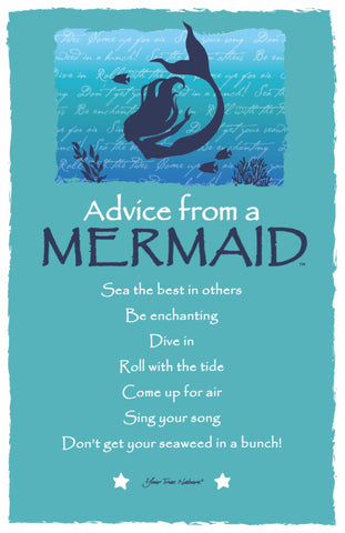 Advice from a Mermaid Frameable Art Postcard