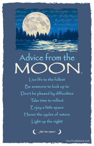 Advice from the Moon Frameable Art Postcard