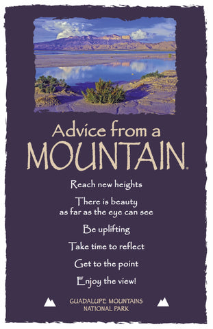 Advice from a Mountain - Guadalupe Mountains National Park - Frameable Art Postcard