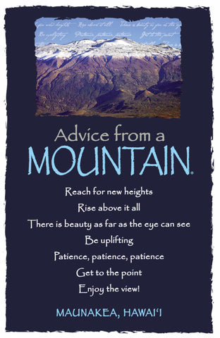 Advice from a Mountain - Maunakea, Hawai'i - Frameable Art Postcard