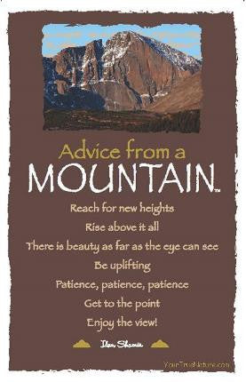 Advice from a Mountain - Rocky Mountain National Park - Frameable Art Card