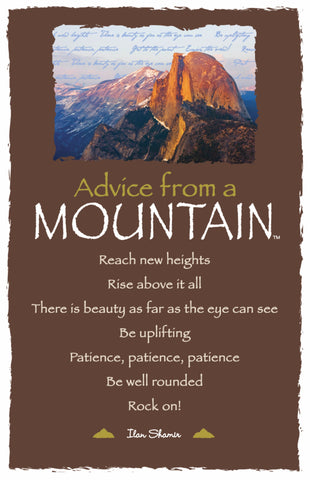 Advice from a Mountain - Yosemite National Park - Frameable Art Postcard