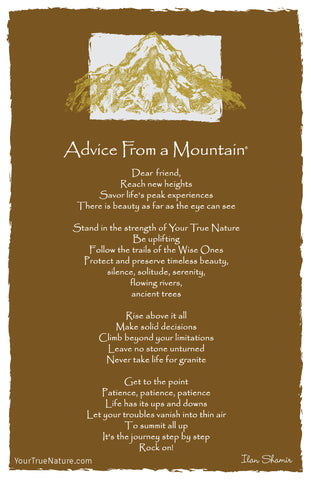 Advice from a Mountain Frameable Art Card