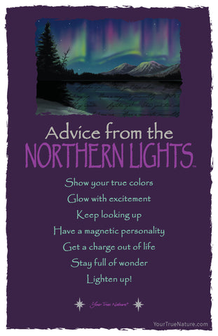 Advice from the Northern Lights Frameable Art Card