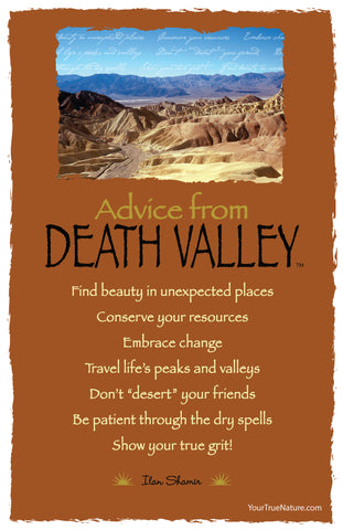 Advice from Death Valley - Frameable Art Card