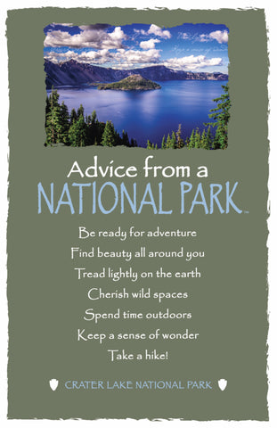 Advice from a National Park- Crater Lake- Frameable Art Postcard