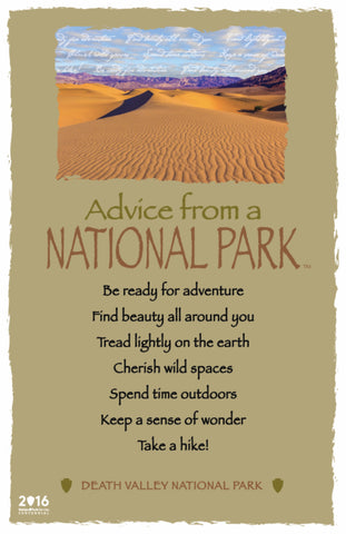 Advice from a National Park- Death Valley National Park - Frameable Art Card